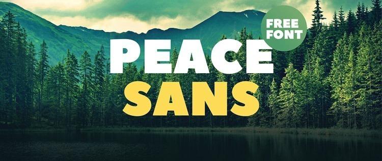 peace-sans-free-font