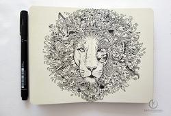 A incrível Doodle Art de Kerby Rosanes