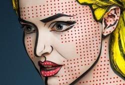 2D or not 2D: Sensacional trabalho fotográfico de pinturas faciais por Alexander Khokhlov