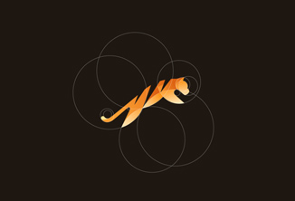 Logos de animais em formas básicas e minimalistas