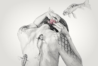 Sereias e metamorfoses de Elisa Ancori