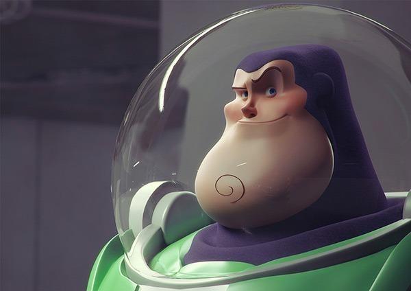 Os personagens 3D de Guzz Soares