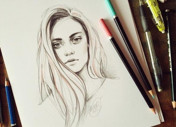 Rostos Desenhos: Belos Rostos Femininos Nas Ilustrações De Katarzyna