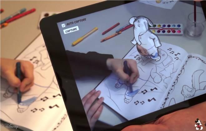 aplicativo-colorir-realidade-aumentada-disney