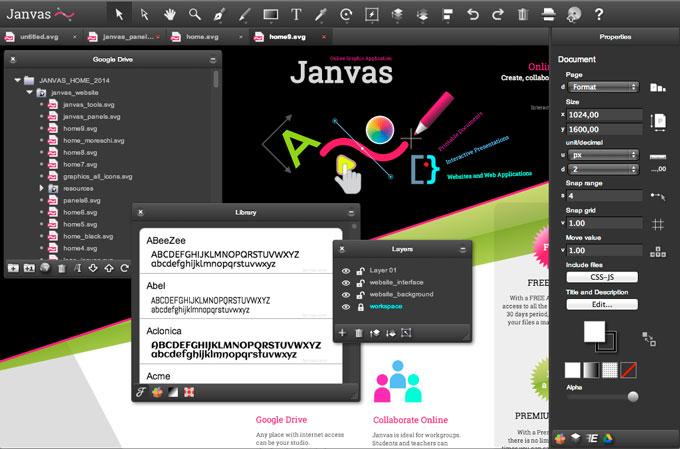 Fonte: Site oficial Janvas
