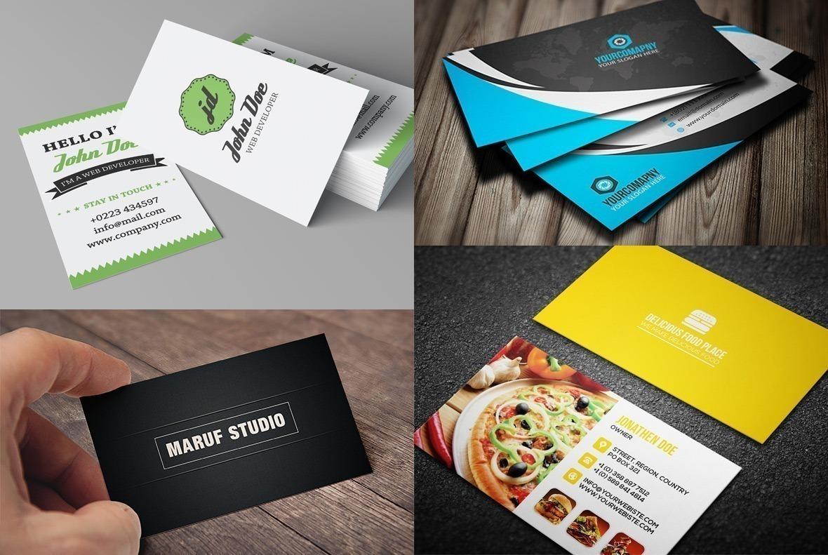 Excepcional 11 modelos de cartões de visita para baixar gratuitamente • Designerd EK86