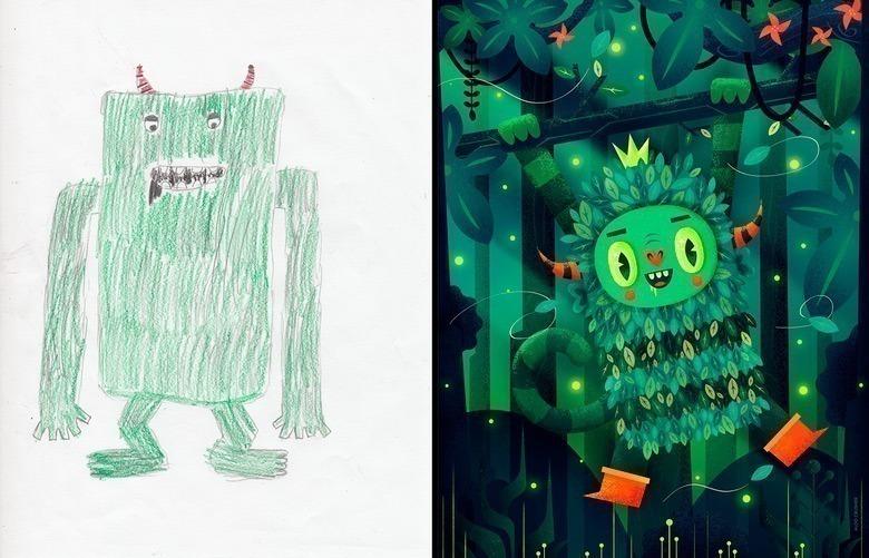 quando-varios-ilustradores-se-juntam-para-dar-vida-aos-monstros-desenhados-por-criancas-3