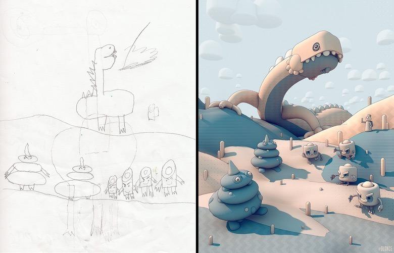 quando-varios-ilustradores-se-juntam-para-dar-vida-aos-monstros-desenhados-por-criancas-5
