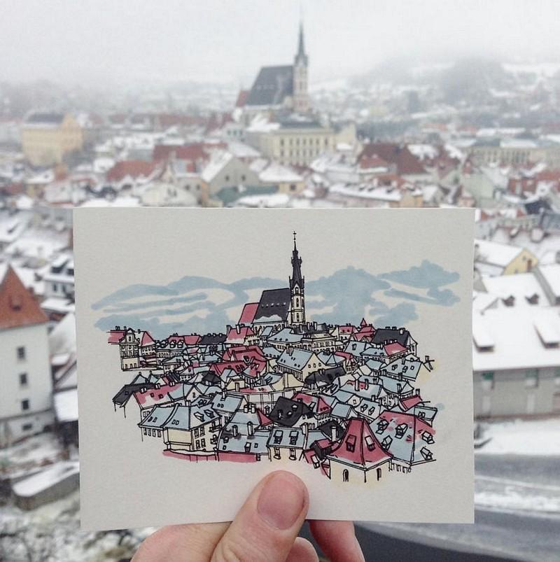 ele-faz-pequenas-ilustracoes-dos-lugares-que-visita (17)