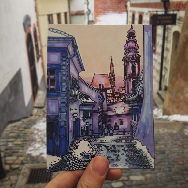 ele-faz-pequenas-ilustracoes-dos-lugares-que-visita (6)