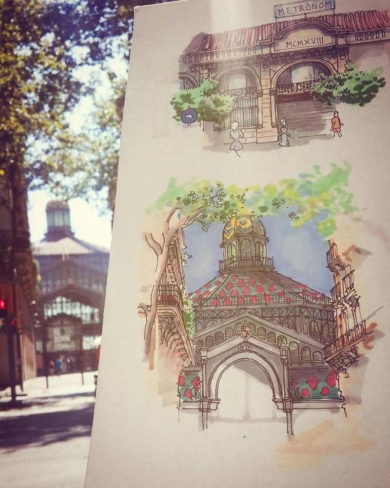 ele-faz-pequenas-ilustracoes-dos-lugares-que-visita (7)