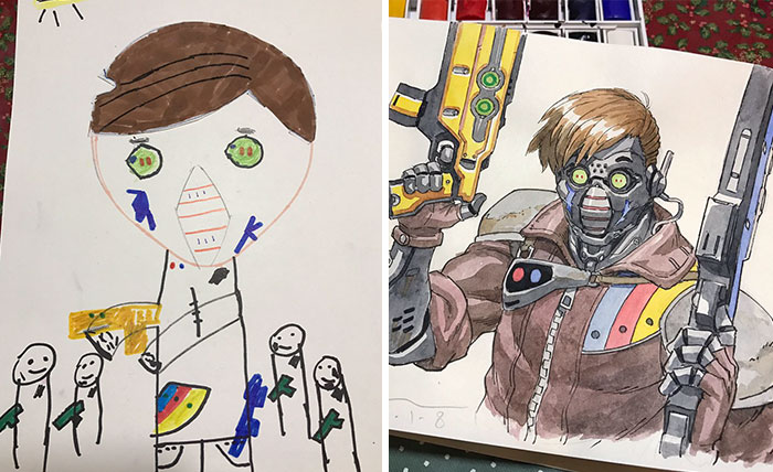 ilustrador-decide-transformar-os-desenhos-dos-filhos-em-personagens-de-anime (3)