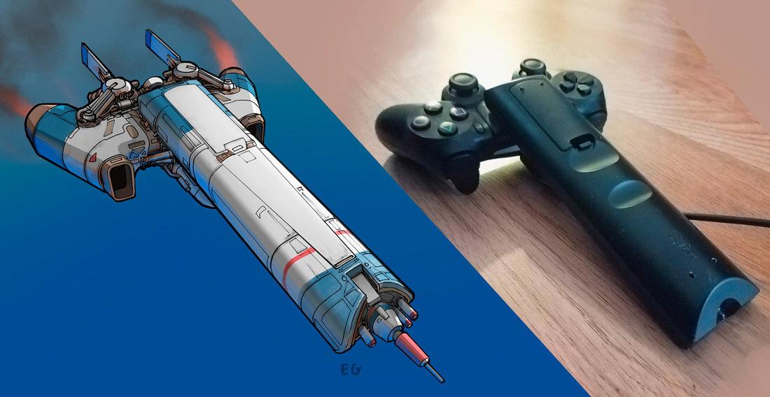 Ele se inspira em objetos comuns para criar belíssimos conceitos de naves espaciais