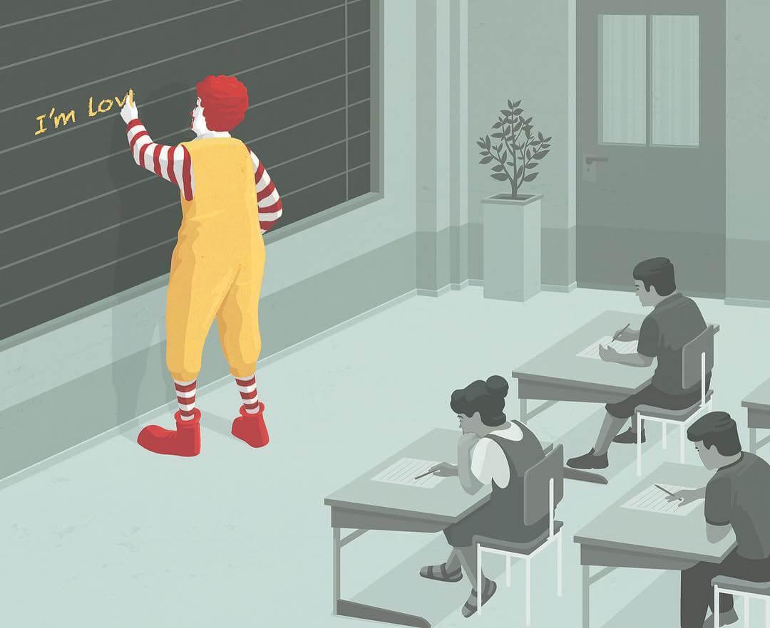 Tem Na Web - As ilustrações inteligentes e metafóricas de Stephan Schmitz